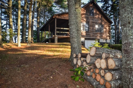 Log Cabin nestled among the pines.